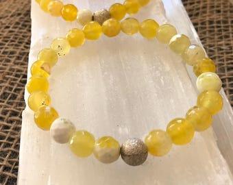 Yellow Fire Agate Bracelet