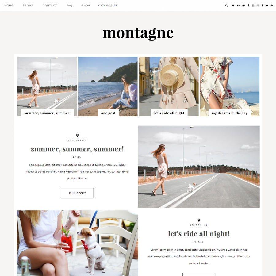 Blogger-Vorlage Montagne / / responsives