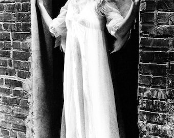 Black and White Angel Photograph, black and white, gothic angel, ethereal