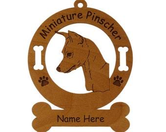 3563 Miniature Pinscher Personalized Dog Ornament