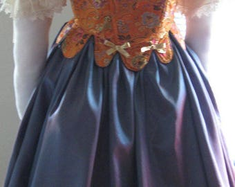 DDNJ Choose Your Color Taffeta Skirt Plus Custom Made ANY Size Renaissance Nobility Queen Pirate Gypsy Witch LARP Cosplay Costume Halloween