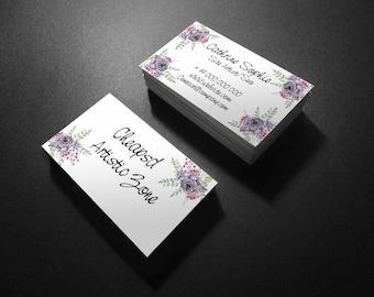Flowered Natural Bouquet  Business Card Design Template V.1
