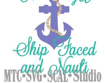 SVG Ship Faced Cruise Quote Saying #02 Embellishment Cut Files MTC SCAL Cricut Silhouette Cutting File