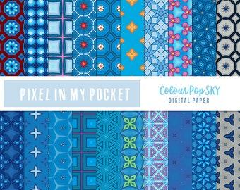 Blue Sky [Colour Pop] Digital Patterned Paper Pack [Instant Download]
