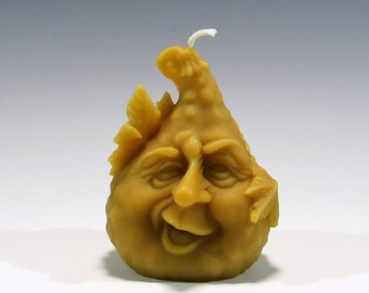 Beeswax Gourd Candle Beeswax Candle Gourd Candle Beeswax Candle Thanksgiving Candle Halloween Candle Fall Decoration Sculpted Candle