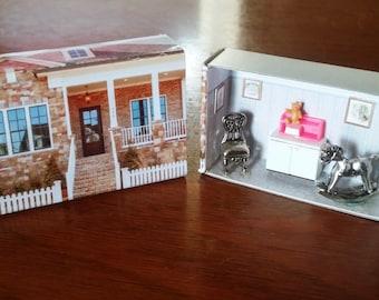 Matchbox House: Miniature Nursery inside a Matchbox