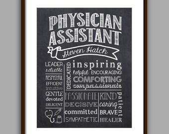 Physician Assistant Gift, Physician Assistant Graduate Gift, Physician Assistant Appreciation Gift, Doctor Gift, Chalkboard Style Printable