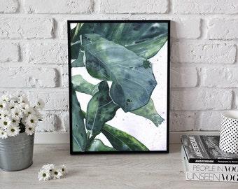 botanical art, leaf illustration, greenery  - 3 sizes available Giclee print