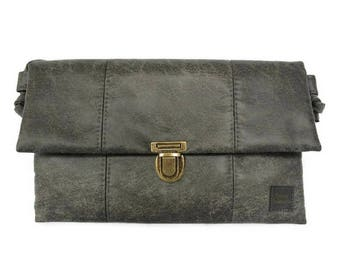 Envelope bag vintage grey - ladies bag tough - clutch bag vegan - gift idea woman