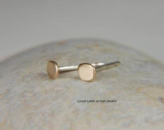 Dainty Gold Earrings 14K Gold Studs Minimalist Earrings Gold Stud Earrings Gold Jewelry Dainty Studs Gold