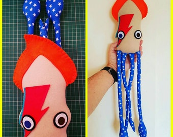 David Bowie Squid Plush Toy