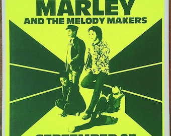 ZIggy Marley-1980's boxing style Concert poster-15X22 inches-New Old Stock-Los Angeles-