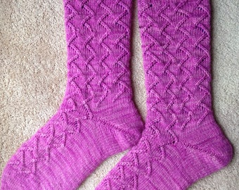 Tricotés à la main rêve en couleur Smooshy avec des chaussettes Cachemire (S-248)
