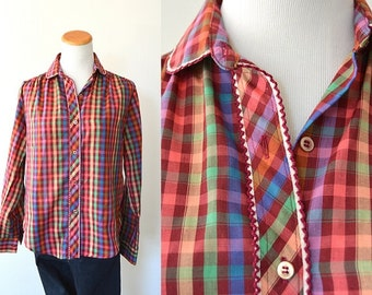 Colorful Gingham Button Up