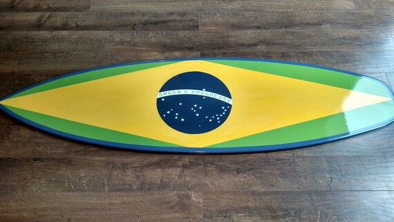 American Flag or Brazil Flag Surfboard Wall Art Surfboard