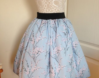 Ladies or girls beautiful Cherry Blossom full skater style skirt