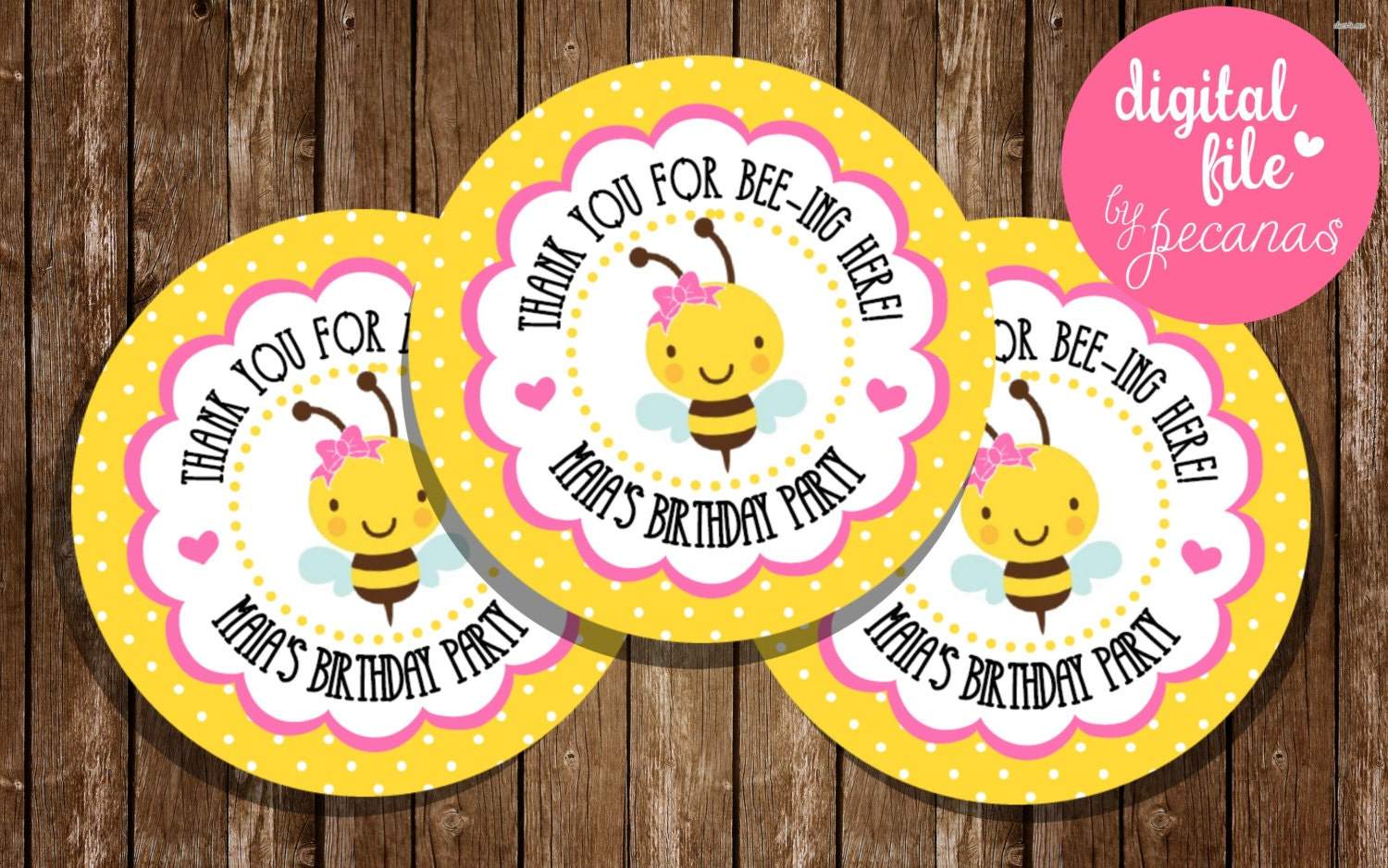 Bee Favor Tags Bumblebee Party Bumble Theme Honey