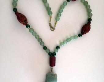 Gorgeous Antique Jade Necklace