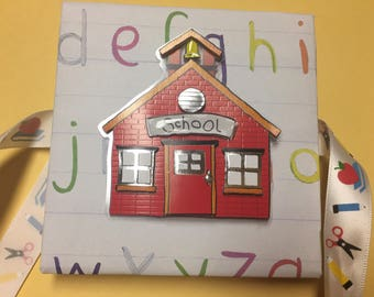 School day mini accordion memory pocket photo album , handmade