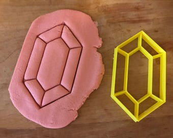 Zelda Rupee cookie cutter/breath of the wild/jewel cookie cutter/rupee/cookie cutters/fondant/baking/pmc/polymer clay/r