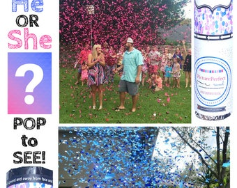 Confetti Cannon | Gender Reveal Ideas| Gender Reveal | Gender Reveal Confetti Cannon| Gender Reveal Ball | Gender Reveal Bomb
