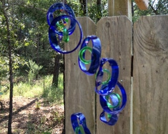 RECYCLING MIXED  bottles into windchimes, musical, eco friendly and green, wind chime, mobile, wind chimes