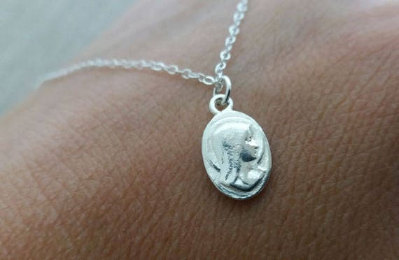 Saint mary magdalene necklace sterling silver necklace like this item mozeypictures Gallery