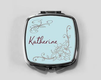Compact Mirror, Personalized Bridesmaid Gift, Purse Mirror compact mirror bridesmaid gift personalized compact personalized mirror
