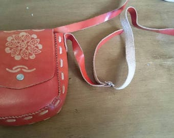 Vintage Leather Travel Purse