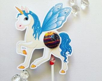 Rainbow unicorn lollipop holders