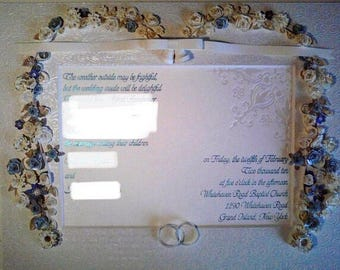 Custom quilled wedding invitation keepsake