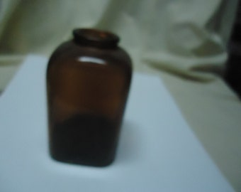 Vintage Brown Glass Snuff Bottle, collectable