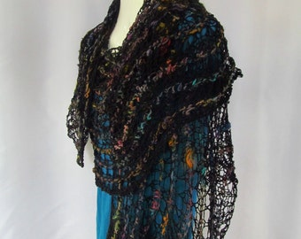 Hand Knitted Lace Wrap