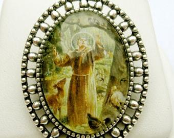 Saint Francis brooch/pin - BR02-049