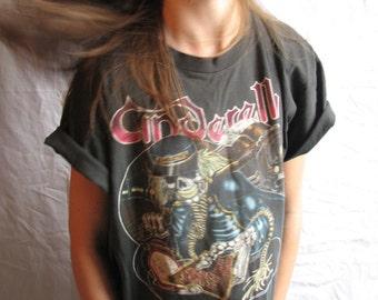Original CINDERELLA 1991 World Tour Rock Shirt