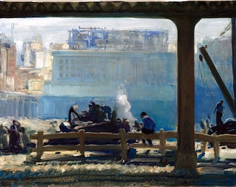 Blue Morning Painting by George Wesley Bellows Art Reproduction