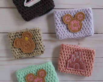 WAYHO COZIES - Rose Gold x Castle, Gray x Monorail, Khaki Speckled x Mickey Waffle, Lavender x Moue Donut, Tiffany Blue x Mouse Donut
