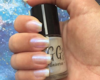 Faery Lore - White Iridescent Nail Polish with Blue Shimmer