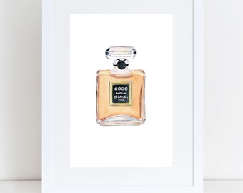 Coco Chanel Perfume Bottle Print