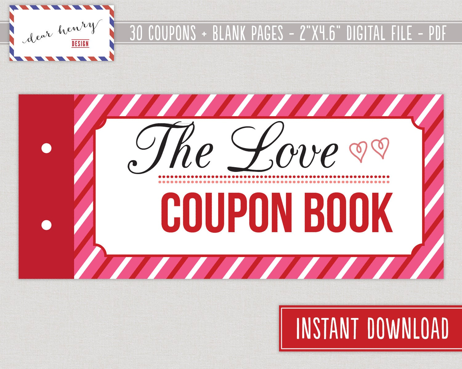 Love Coupons Valentine\'s Day Coupon Book Romantic