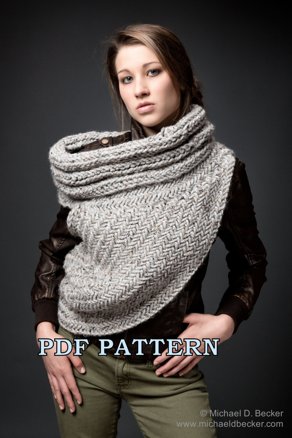 Huntress cowl scarf post apocalyptic cowl knitting pattern by zoom bankloansurffo Choice Image