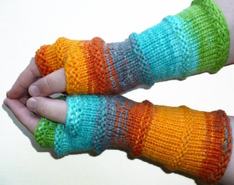 Knit Fingerless gloves | Arm warmers | Womens Fingerless | Long Fingerless Mittens | Wrist warmers Hand warmers Vegan Glove