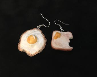 Sunday Brunch Egg & Toast Earrings
