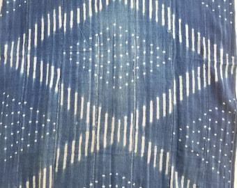 Vintage indigo mudcloth