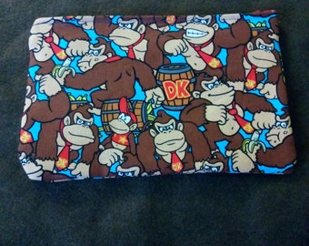 Donkey Kong video game nerdy geeky large make up bag