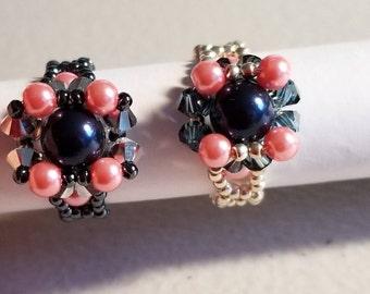 Swarovsky pearl ring