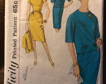 Vintage 50s Simplicity 4186 Suit Pattern-Size 14 (34-26-36)