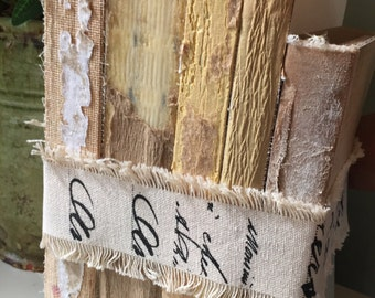 French Country, Uncovered Books, Rustic Books, Decorative Books, French Country Decor, Book Decor, Farmhouse Wedding, Book Lover Gift