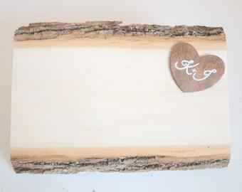 Personalized rustic guest book alternative - wedding wood slice guest book alternative