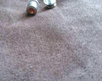 Orange Crystal Bullet Earrings